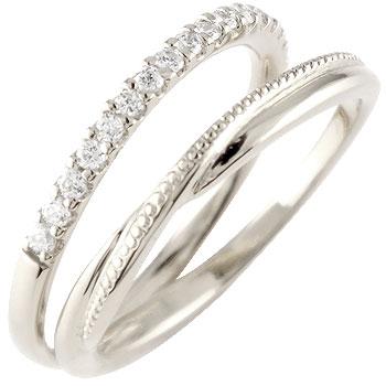 婚約指輪 プラチナ エンゲージリング ダイヤモンド ハーフエタニティ 指輪 ミル打ち