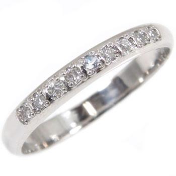 婚約指輪 プラチナ エンゲージリング ダイヤモンド ブルームーンストーン ハーフエタニティ 指輪 6月誕生石
