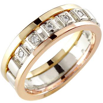 ダイヤモンド リング 指輪 ホワイトゴールドk18 イエローゴールドk18 ピンクゴールドk18 重ね付け
