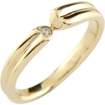 婚約指輪 エンゲージリング ダイヤモンド 一粒ダイヤモンド イエローゴールドk18