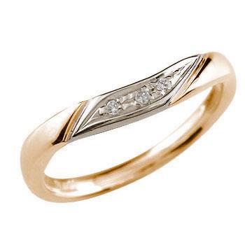 ダイヤモンド リング ピンクゴールドk18 プラチナ エンゲージリング 婚約指輪