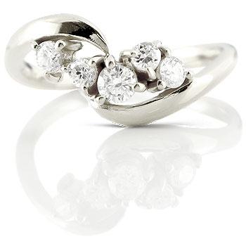 ダイヤモンド 婚約指輪 エンゲージリング ホワイトゴールドk18