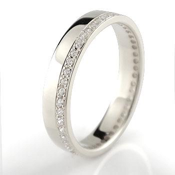 フルエタニティリング プラチナ ダイヤモンド 指輪 幅広