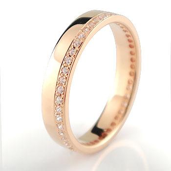フルエタニティリング ダイヤモンド 指輪 ピンクゴールドk18 幅広