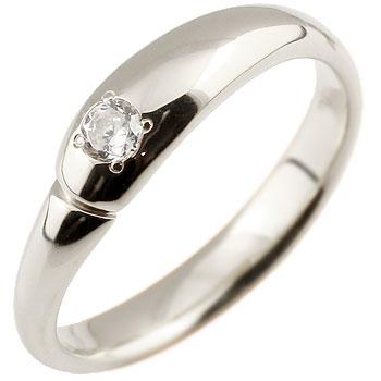 ダイヤモンド プラチナリング 指輪 ダイヤモンドリング ダイヤ ピンキーリング シンプル 一粒 レディース