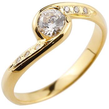 ダイヤモンド リング ダイヤ 大粒 指輪 ダイヤモンドリング イエローゴールドk18