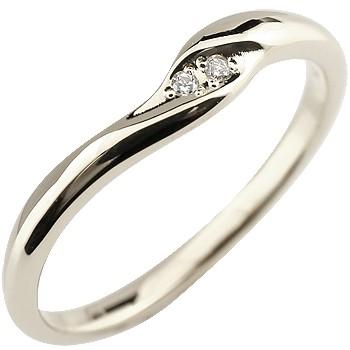 ダイヤモンド プラチナリング 指輪 ピンキーリング ダイヤ シンプル pt900 レディース