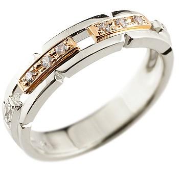 婚約指輪 ダイヤモンド リング コンビリング 幅広 指輪 ピンキーリング ダイヤ ダイヤモンドリング レディース