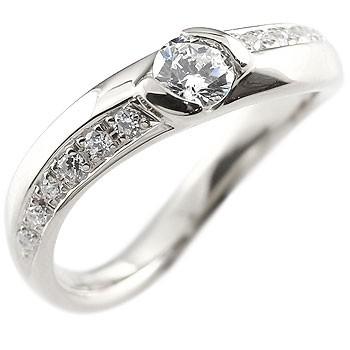 鑑定書付き ダイヤモンド ホワイトゴールドk18  リング 指輪 ダイヤ ダイヤモンドリング 大粒 VSクラス レディース