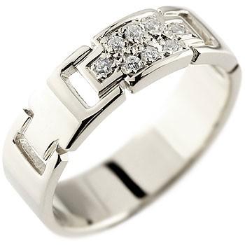 クロス ダイヤモンド プラチナリング 指輪 ダイヤモンドリング ピンキーリング ダイヤ 幅広指輪 十字架 pt900 レディース
