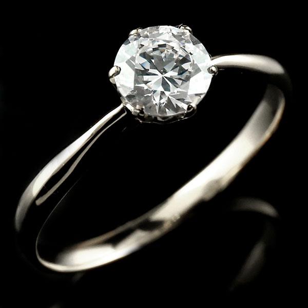 エンゲージリング シルバー ダイヤモンド 大粒 一粒 指輪 婚約指輪 リング ストレート sv925