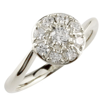 ダイヤモンド プラチナリング ダイヤ 指輪 ダイヤモンドリング 取り巻き