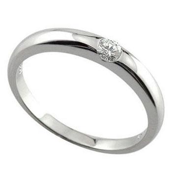 【送料無料】指輪:ダイヤモンド:リング:ホワイトゴールドK18:一粒ダイヤモンド0.10ct:K18WG:特別価格【工房直販】