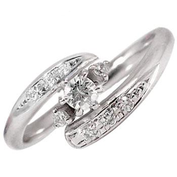 ピンキーリングダイヤモンド指輪