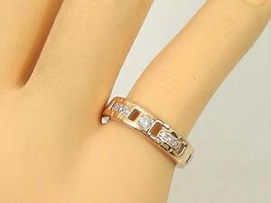指輪.天然ダイヤモンド,K18PG
