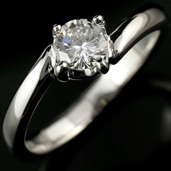 鑑定書付き プラチナリング ダイヤモンド リング 指輪 一粒 大粒 SI ダイヤモンドリング