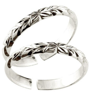 スイートハグリング ハワイアンジュエリー ペアリング プラチナ 結婚指輪 マリッジリング フリーサイズリング 指輪 ハンドメイド 結婚式
