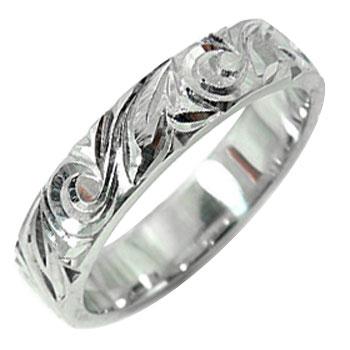 【送料無料】ハワイアンジュエリー:ハワイアンリング:指輪:プラチナ900:プラチナリング:マイレ(葉):スクロール(波):小指に記念にお守りとして:ハワイ【工房直販】