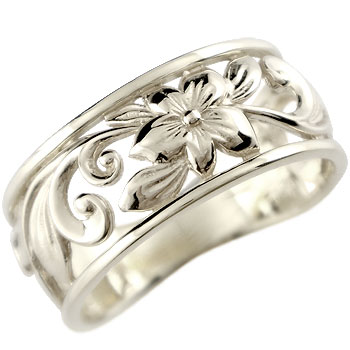ハワイアンジュエリー リング 指輪 幅広 透かし