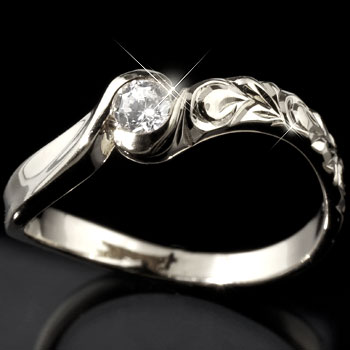 ハワイアンジュエリー キュービックジルコニア シルバーリング 指輪