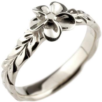 ハワイアンジュエリー プラチナ リング 指輪 プルメリア