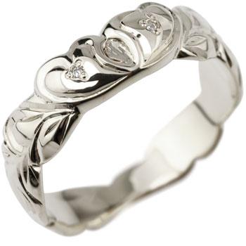 ハワイアンジュエリー ハート シルバー リング キュービックジルコニア 指輪