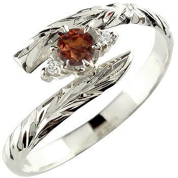 ハワイアンジュエリー リング ガーネット 指輪 ハワイアンリング シルバー 1月誕生石 sv925