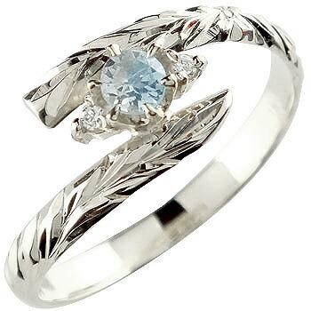 ハワイアンジュエリー プラチナ リング ブルームーンストーン 指輪 ハワイアンリング 6月誕生石 pt900