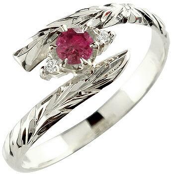 ハワイアンジュエリー リング ルビー 指輪 ハワイアンリング シルバー 7月誕生石 sv925 ストレート