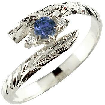 ハワイアンジュエリー リング サファイア 指輪 ハワイアンリング シルバー 9月誕生石 sv925 ストレート