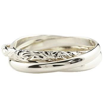 ハワイアンジュエリー 3連リング 指輪 ピンキーリング ハワイアンリング シルバーリング 地金リング sv925