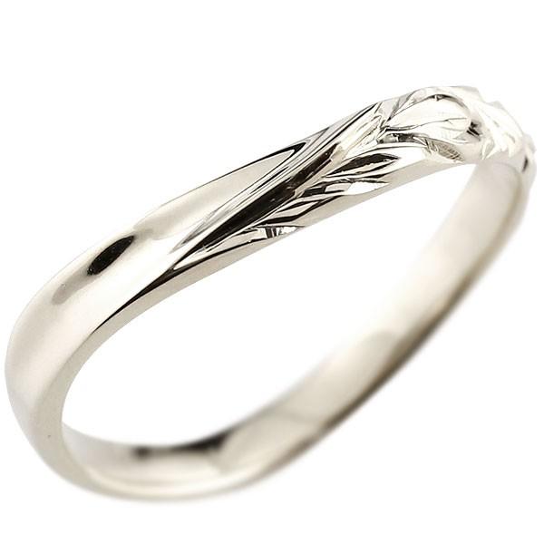 ハワイアンジュエリー プラチナリング 指輪 ハワイアンリング V字 pt900 レディース