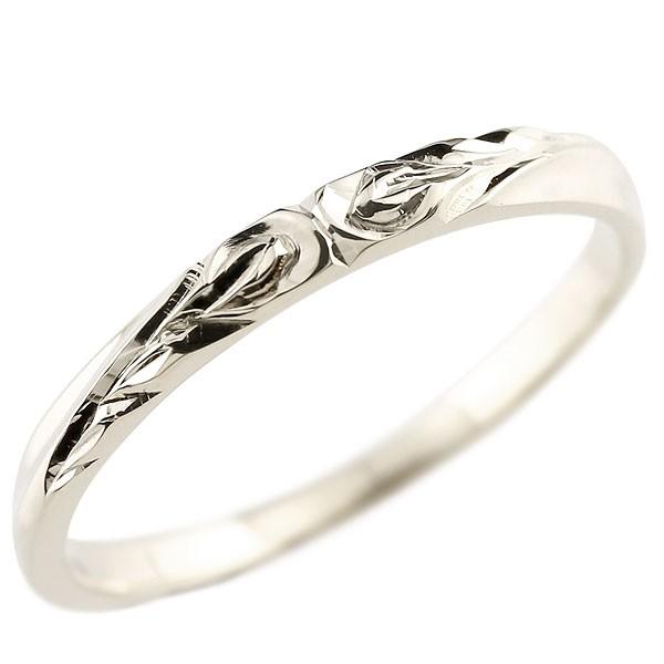 ハワイアンジュエリー プラチナリング 指輪 ハワイアンリング  地金 ストレート pt900 レディース