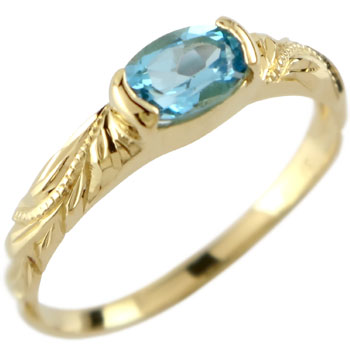 ハワイアンジュエリー リング 指輪 イエローゴールドk10