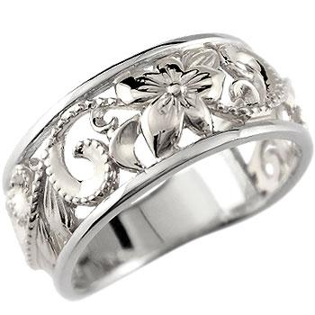 ハワイアンジュエリー シルバー リング 指輪 幅広 透かし