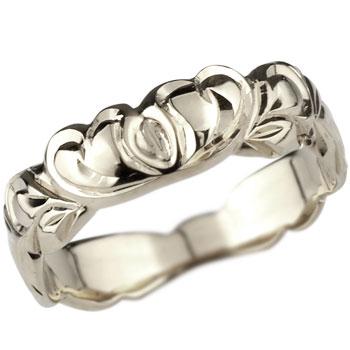 ハワイアンジュエリー ハート プラチナ リング 指輪