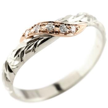 ハワイアンジュエリー ダイヤモンド ホワイトゴールドk10 リング 指輪 ハワイアンリング ダイヤ 一粒 大粒