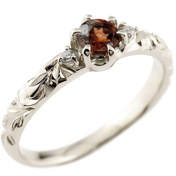 ハワイアンジュエリー 大粒の天然石 プラチナ リング 指輪