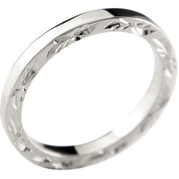 ハワイアンジュエリーハワイアンリング指輪ホワイトゴールドk10