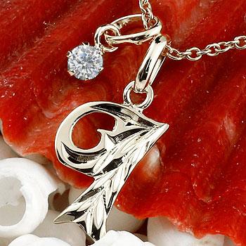 ハワイアンジュエリー イニシャル I ネックレス プラチナ ペンダント ダイヤモンド アルファベット レディース チェーン 人気