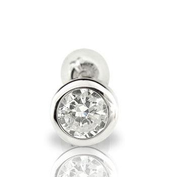 ダイヤモンド0.3ct片方ピアスホワイトゴールドK18【工房直販】