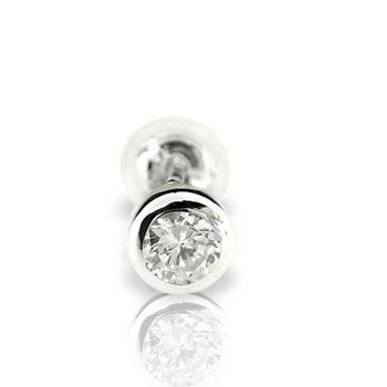 ダイヤモンド0.15ct片方ピアスホワイトゴールドK18【工房直販】