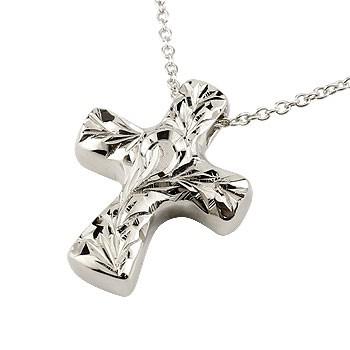 ハワイアンジュエリー クロス ネックレス プラチナ ペンダント 十字架 地金 pt900 チェーン 人気