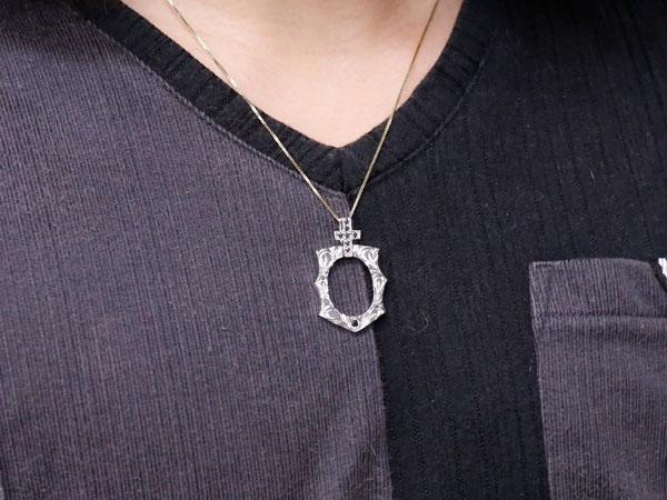 5910c621d3b481 メンズ ハワイアン ブラックダイヤモンド 馬蹄 ホワイトゴールドk18 ...