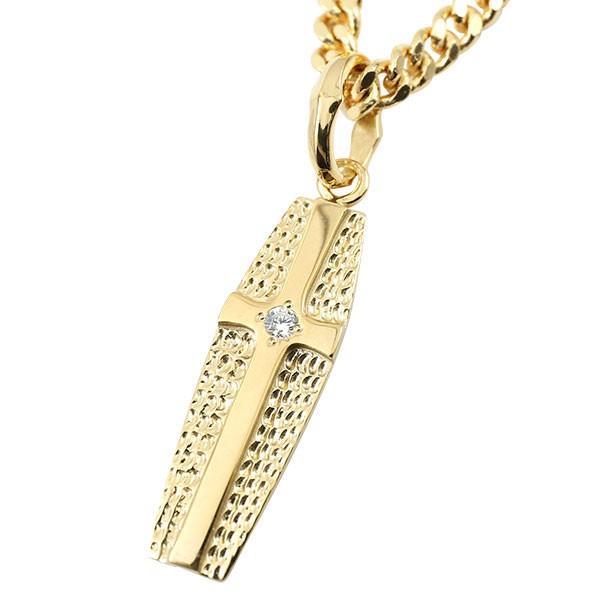 喜平用 ネックレス メンズ イエローゴールドk10 ダイヤモンド キヘイ ペンダント クロス コフィン 棺 10金 チェーン 人気 コントラッド 東京 母の日
