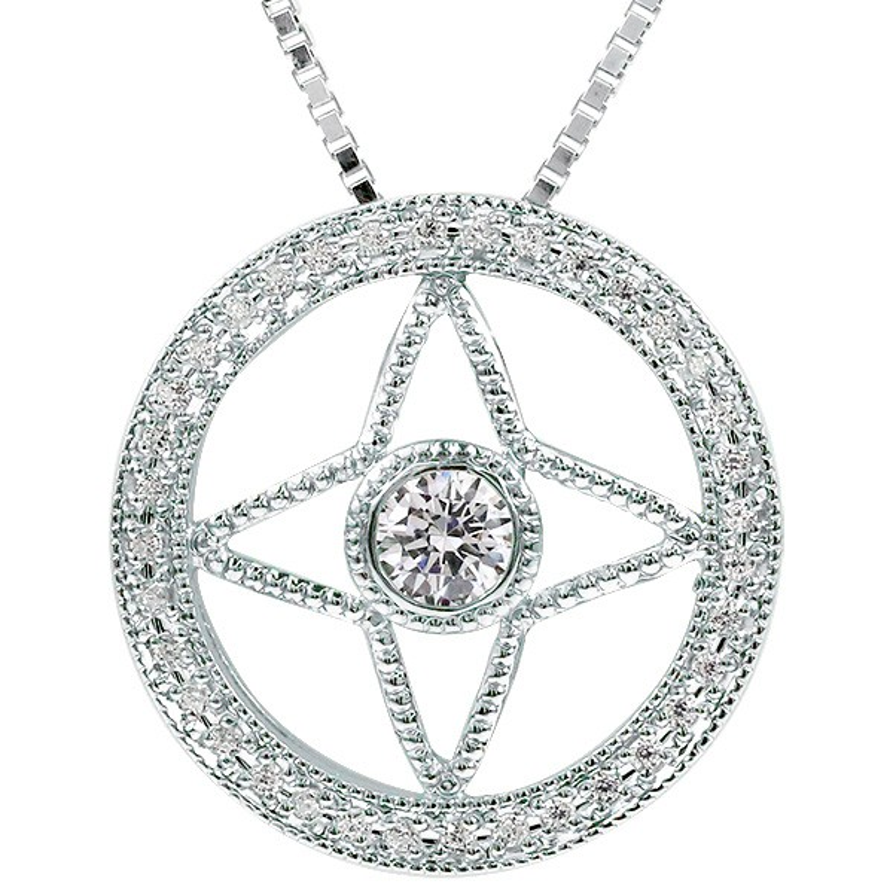 メンズ プラチナネックレス ダイヤモンド 四芒星形 ペンダント pt900 チェーン 男性用 人気 宝石 ダイヤ