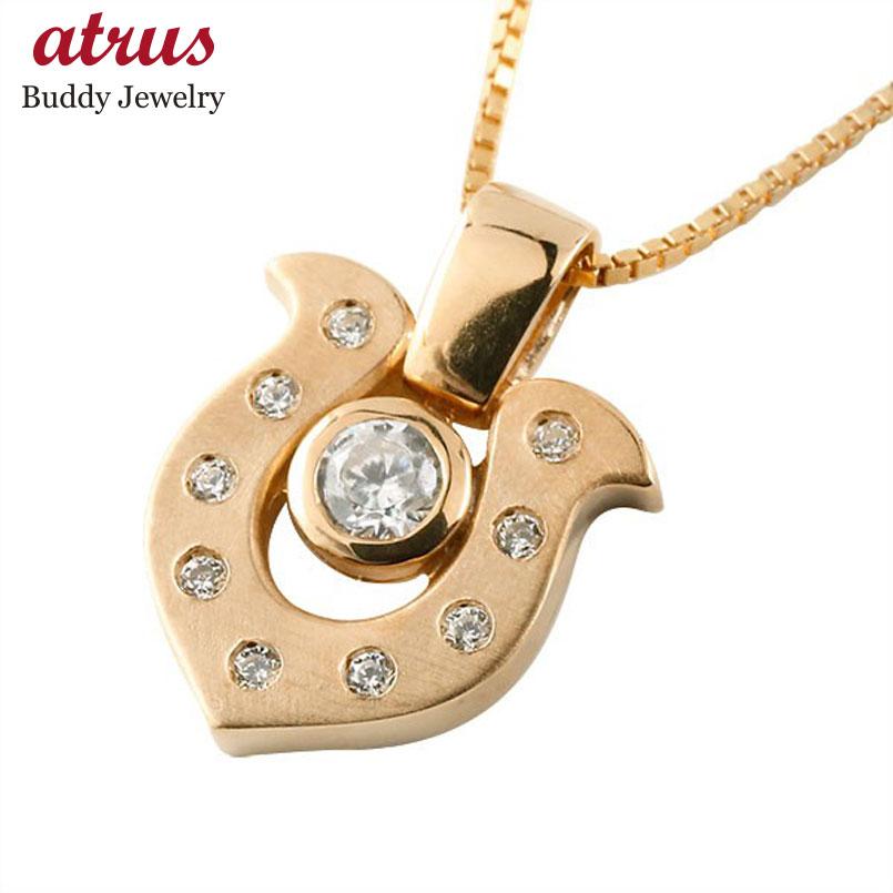 ネックレス ダイヤモンド  ダイヤ ピンクゴールド ペンダント チェーン 人気