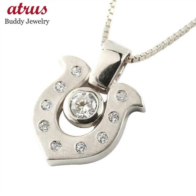 ネックレス ダイヤモンド  ダイヤ ホワイトゴールド ペンダント チェーン 人気