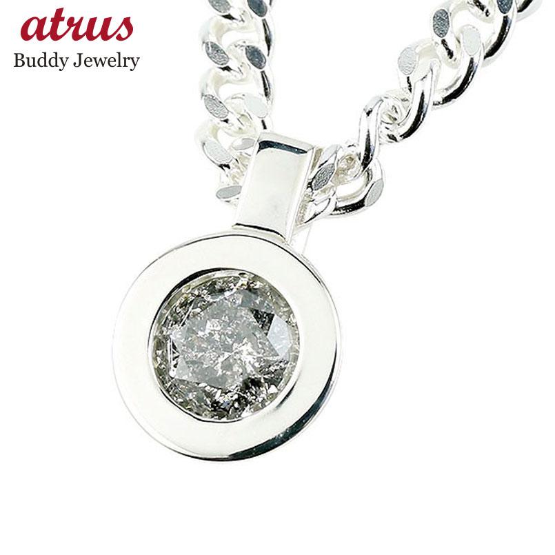メンズネックレス ダイヤモンド 1.0ct 喜平用 キヘイ ペンダント ネックレス ダイヤ 大粒 一粒 男性用 キヘイチェーン 人気