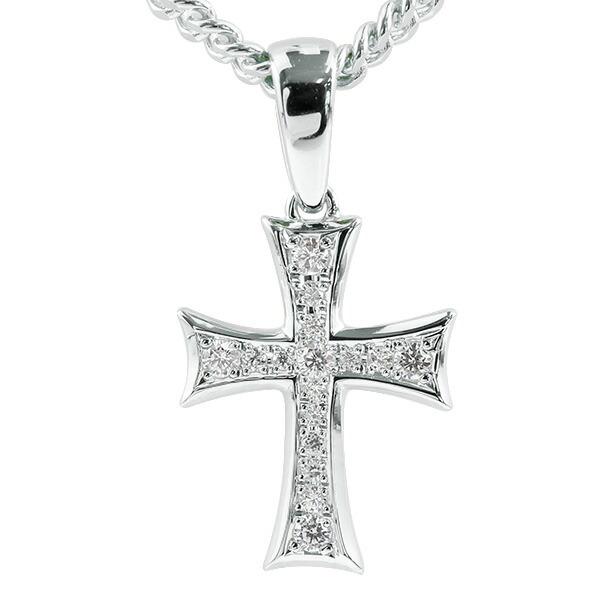 喜平用 メンズ クロス キュービックジルコニア ネックレス シルバー925 ペンダント 十字架 sv925 シンプル 男性用 キヘイチェーン